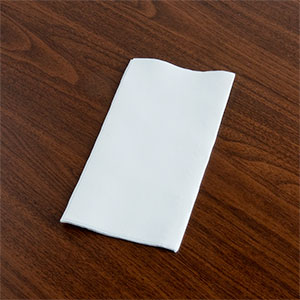 "Napkin 1ply Redi Fold 1/8 300x150mm Rectangle ""Alexandra Paper"""