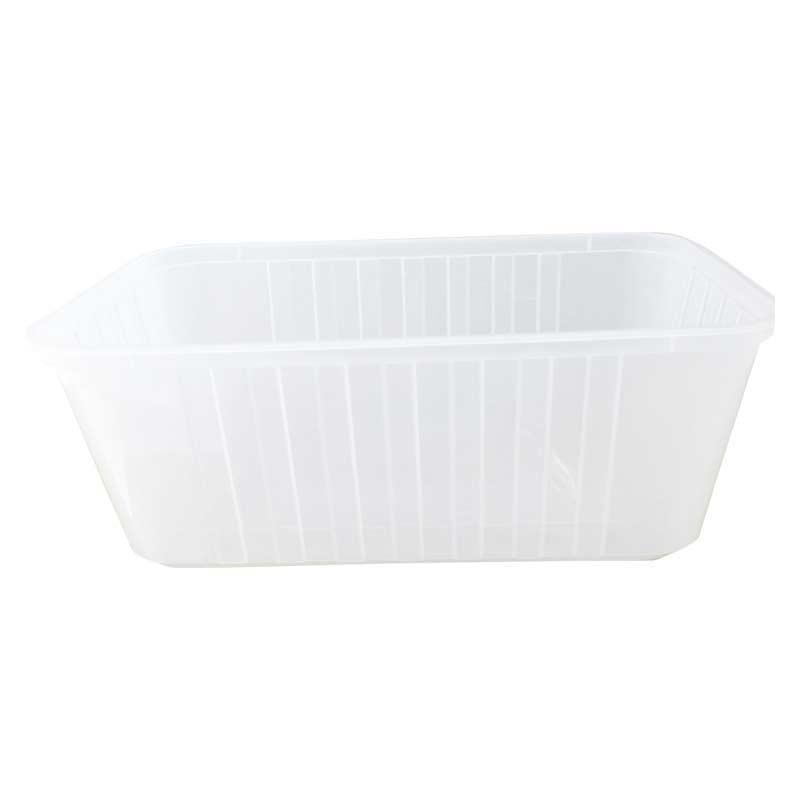 "750ml ""Ribbed"" Plastic Rectangular Container MPR"
