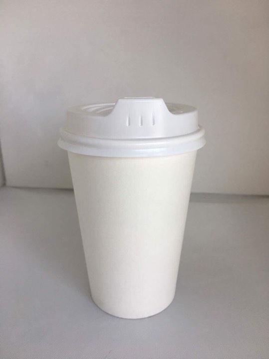 Velta White 12oz Single Wall Coffee Cup
