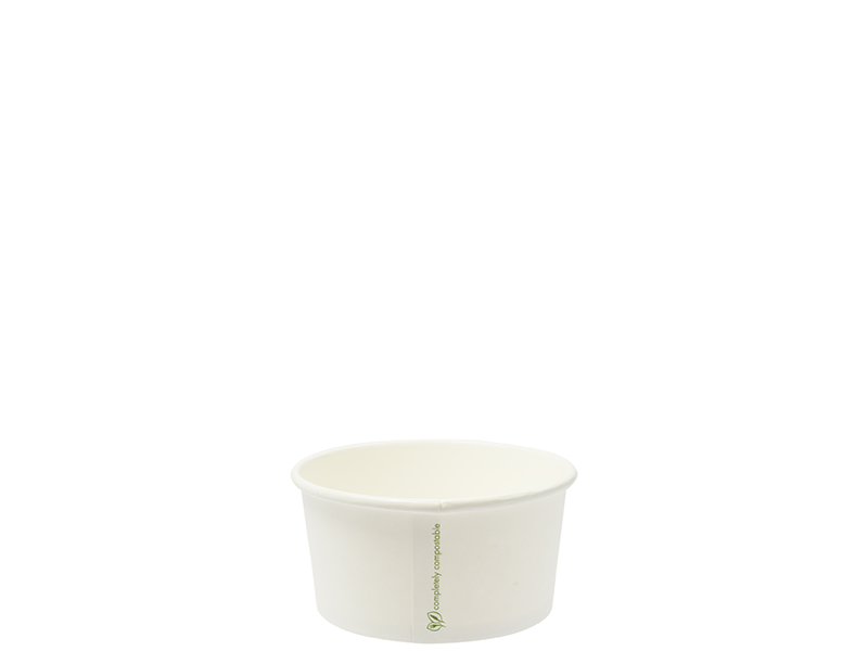 6oz (180ml) paper bowl - white - Vegware