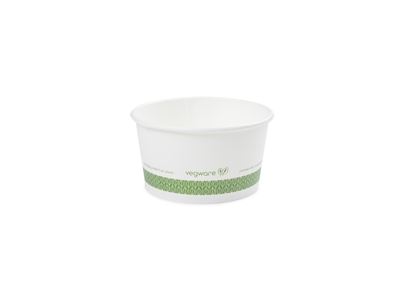 12oz (360ml) paper bowl - white - Vegware