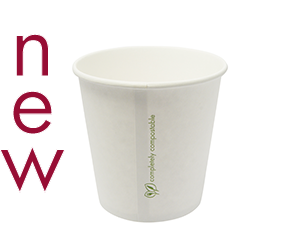 24oz (750ml) paper bowl - white - Vegware