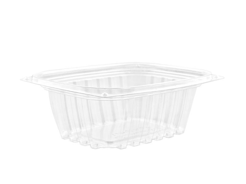 12oz (375ml) PLA rectangular container - clear - Vegware