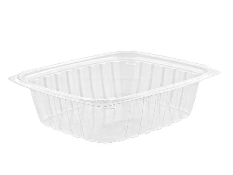 24oz (750ml) PLA rectangular container - clear - Vegware