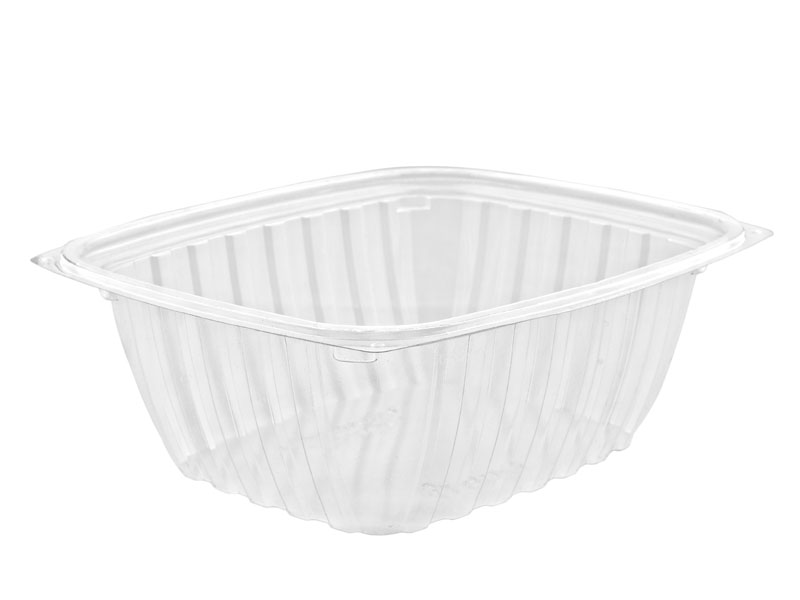 32oz (1000ml) PLA rectangular container - clear - Vegware