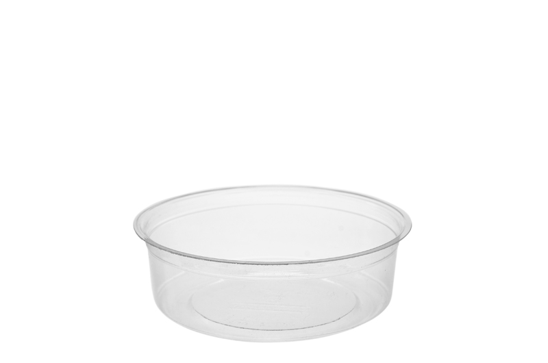 8oz (250ml) PLA round container - clear - Vegware