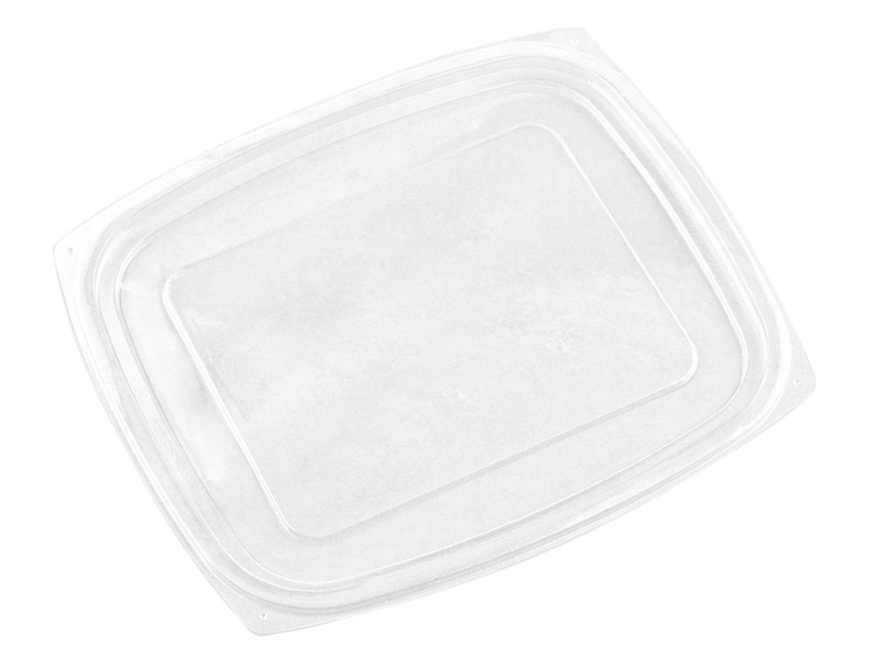 PLA rectangular container lid (fits 24 & 32oz) - clear - Vegware
