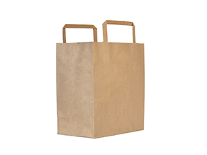 25w x 27h x 16d cm large recycled paper carrier bag - kraft - Vegware