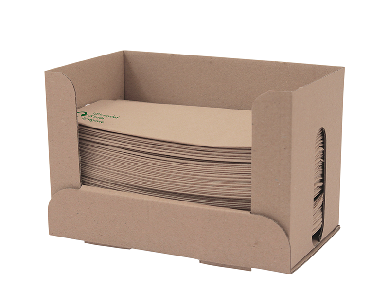 32 x 30cm 1-ply dispenser napkins with 2 free dispensers - kraft - Vegware