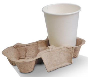 Recycled Eggshell 2 Cup Coffee Tray