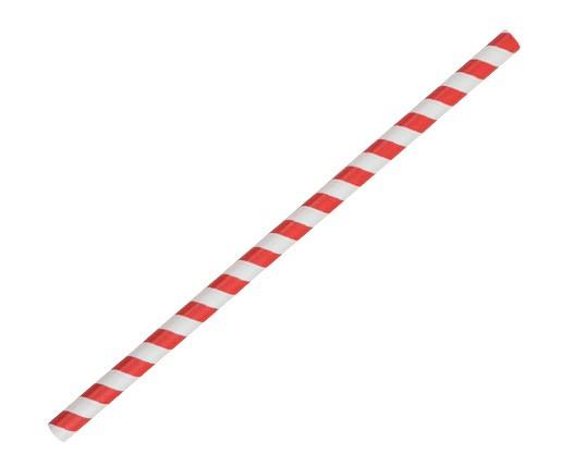 Paper Straw Jumbo - Red/White Stripe