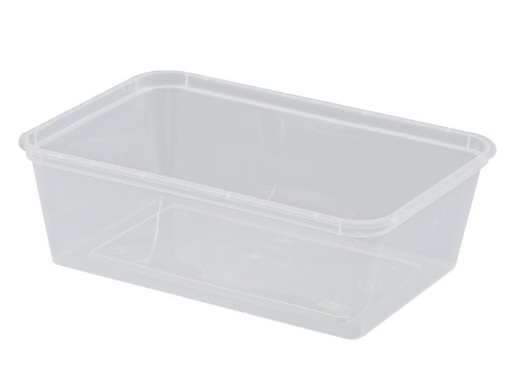 """650ml Plastic Rectangle Container """"Magic Plastics"""" MPR"""