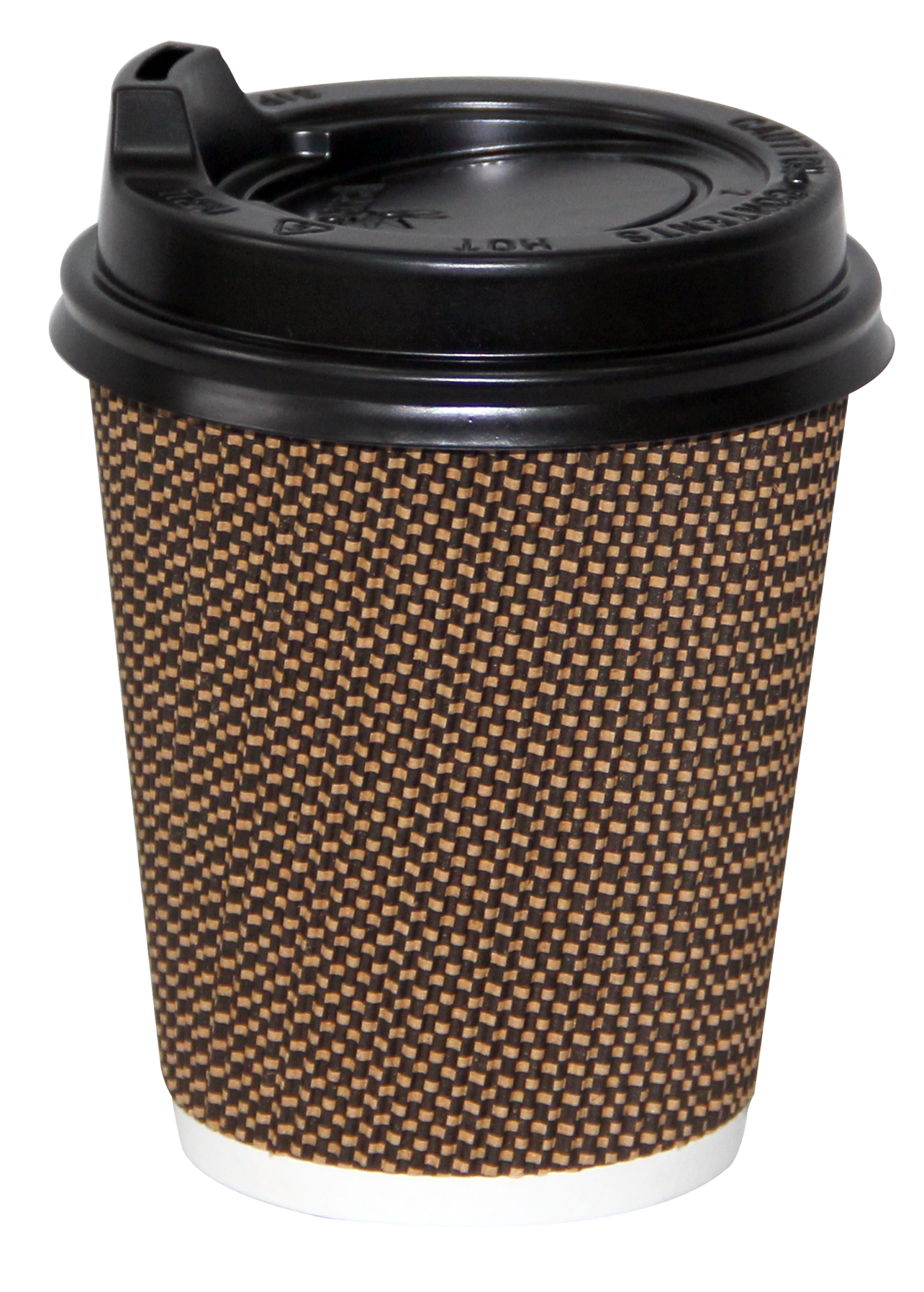 8oz Crinkle Gold and Brown - Coffee Cup 80mm ANR