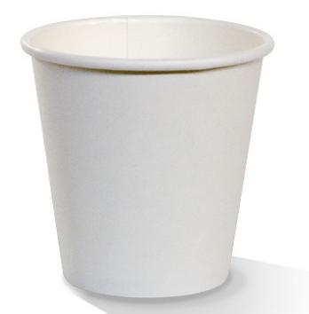 PAC 8oz Single Wall Plain White - Standard