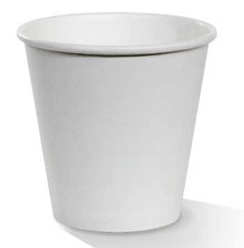 PAC 8oz Single Wall Plain White - Squat (One size fits all lid)