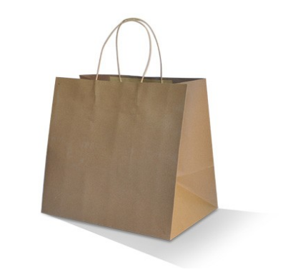 "Brown Kraft Bag - Take Away ""320x350x230mm"""