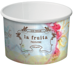 La Fruita Paper Ice Cream & Gelato Cups - 12oz / 355ml