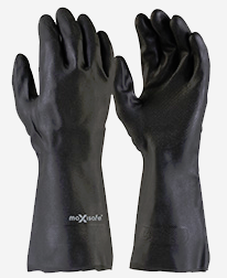 Black Neoprene Gauntlet Gloves