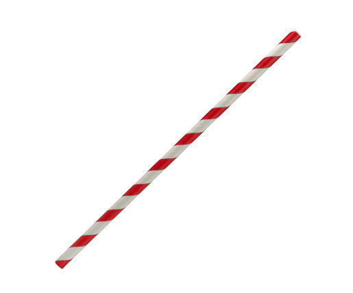 Paper Straw Regular - Red Stripe