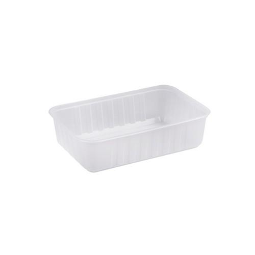 "680ml ""Ribbed"" Plastic Rectangle Container MPR"