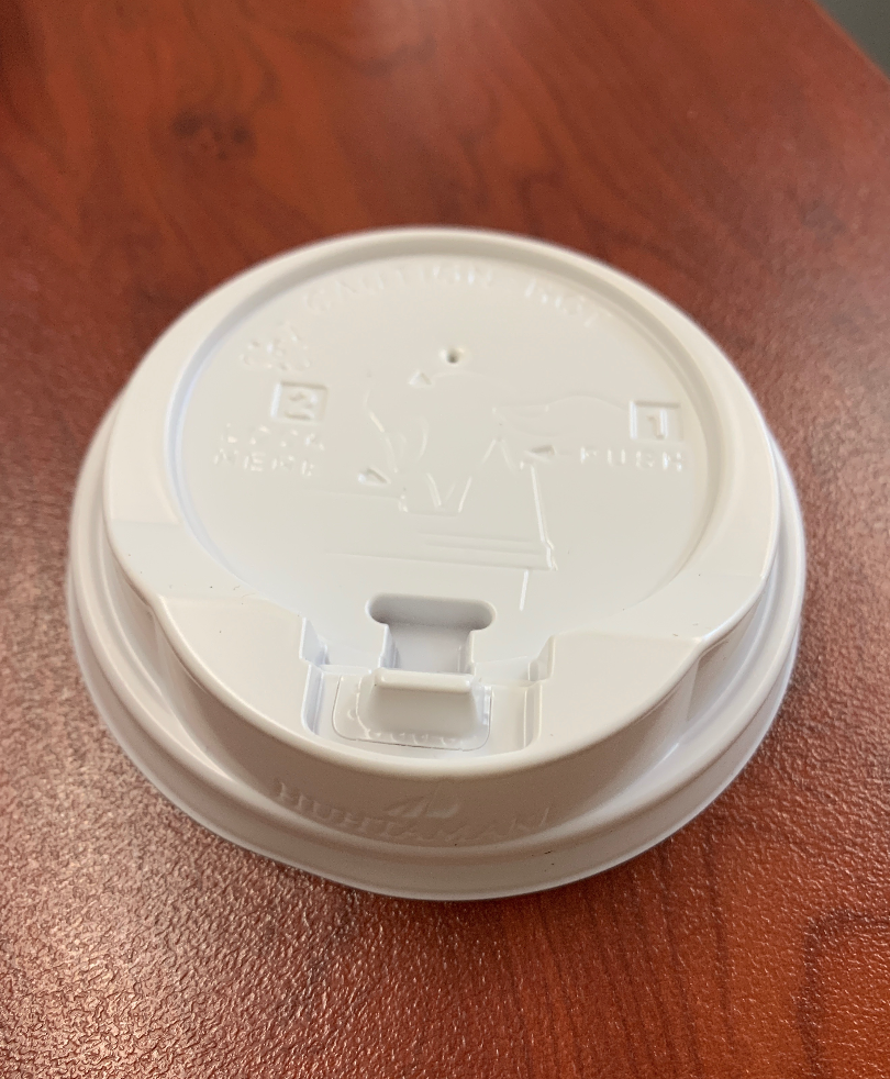 Anti Spill Coffee Cup Lids (8,12,16oz) White- Click Back Lids