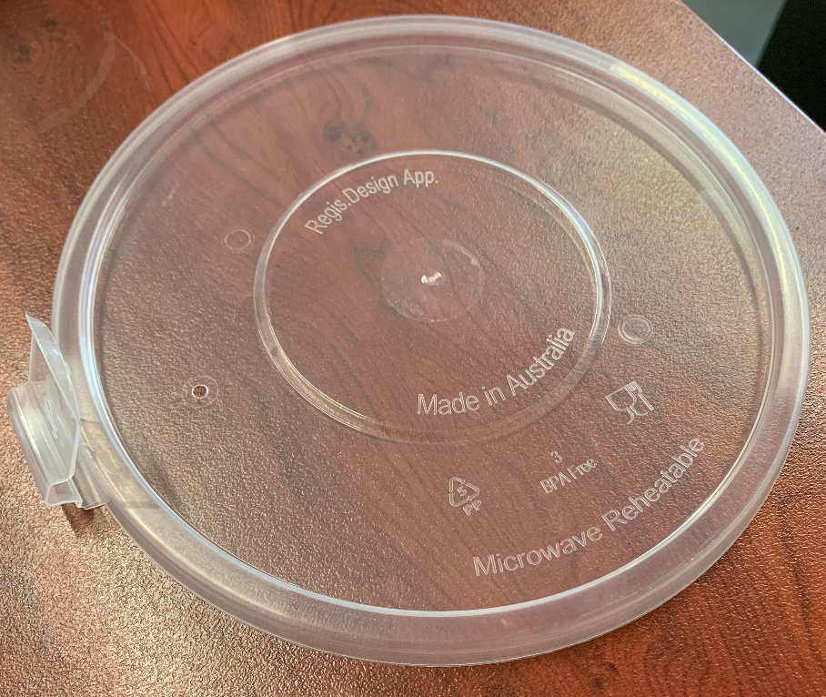 Anti Spill Clear Plastic Lid to Suit 1050/900 Chinese Bowl