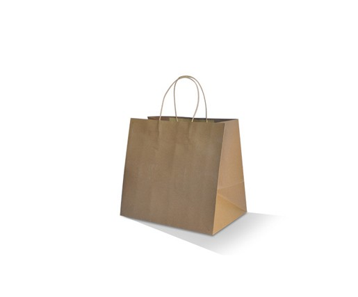 "Brown Kraft Bag - Takeaway Small ""280x280x160"" (Twisted Handle)"