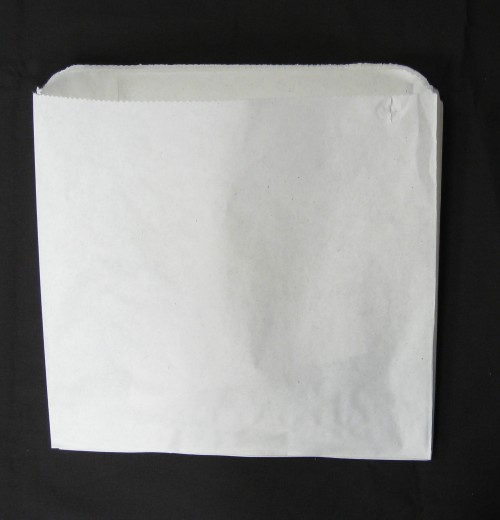 "Bleached Paper Bag 2 Square Grease Proof ""200x215"""
