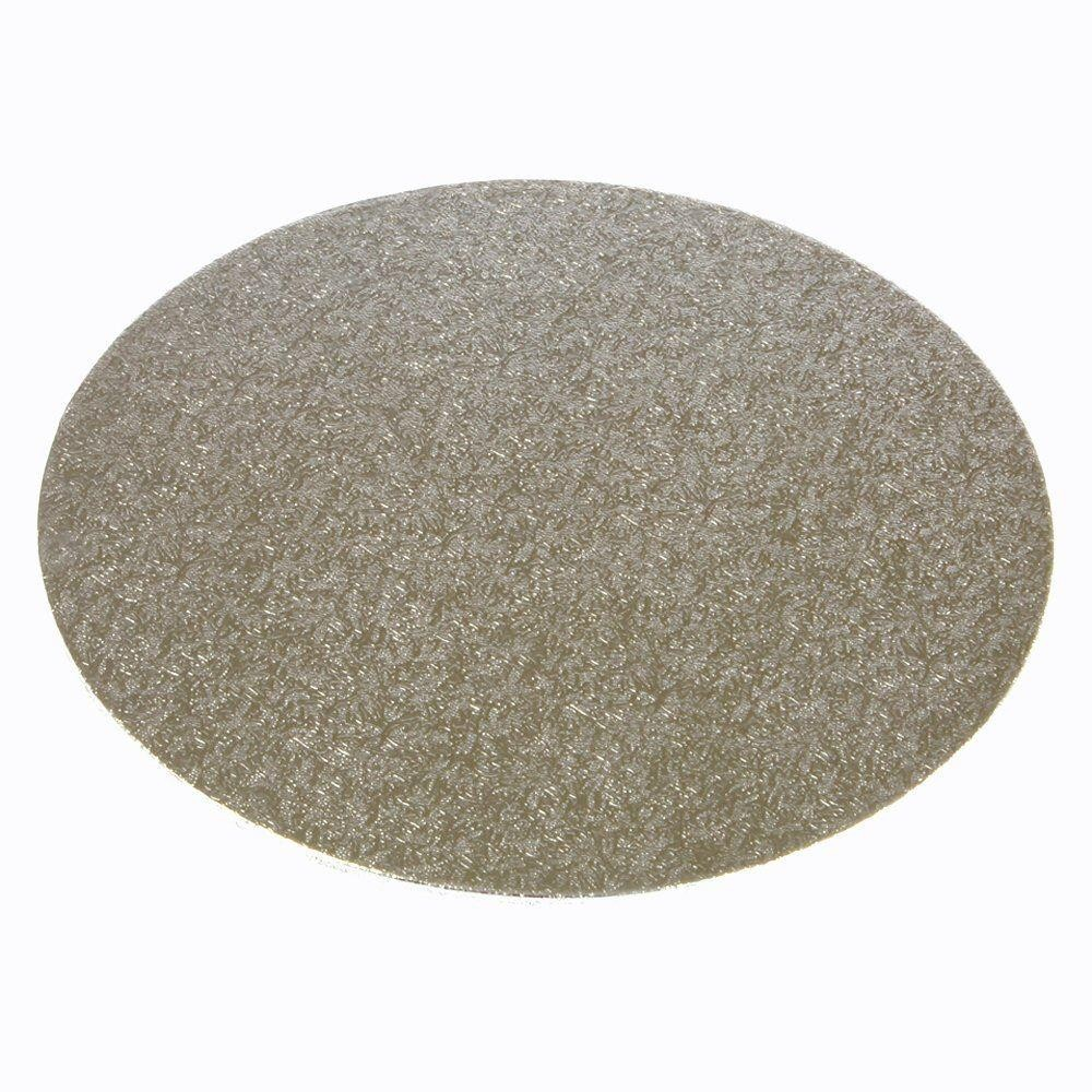 "10"" Silver Round Cake Board - 2mm (Qty 50)"