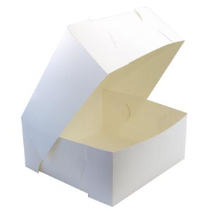 Cake Box White No 994 (9 x9 x4)