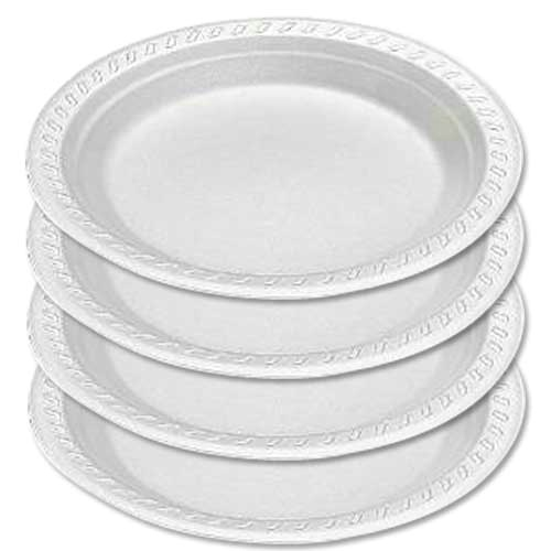 "7"" Laminated Foam Plate Round ""180mm"" (carton of 500)"