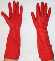 Gloves Dishwashing Rubber Unlined Red Extra Long