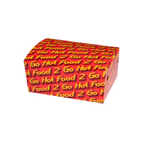 "Junior Snack Box Printed ""Hot Food 2 Go"" (MEDIUM)"