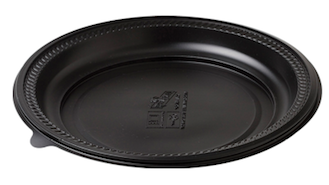 Microwave Safe Round Platter - Black Base