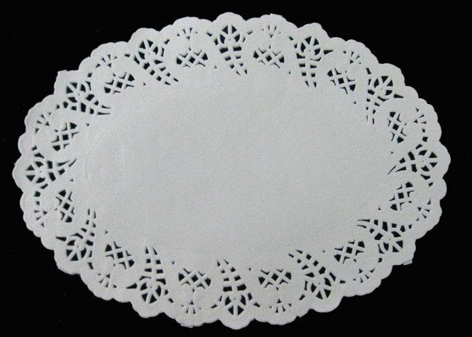 "Oval Paper Lace Doileys ""150x220mm"""