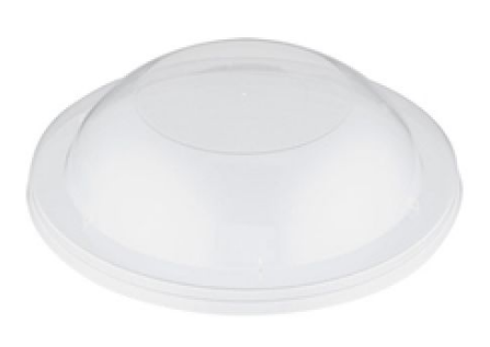 Raised Dome Plastic Round lid (Suits 220 - 600ml round container)