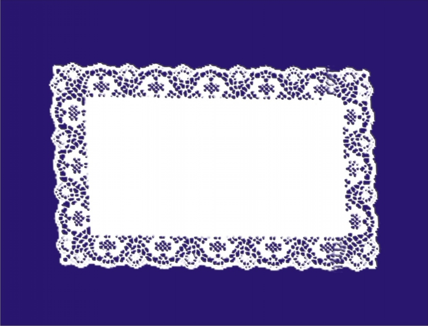 Rectangle Paper Lace Doileys 250x350mm