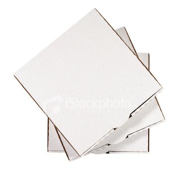 "Plain White Double Pizza BOX 12"" (qty of 100)"