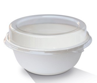 "PET Lid to suit 12oz Sugarcane Bowl ""B12"" (150 x 35 mm)"