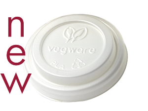 62mm CPLA hot cup lid (fits 4oz cup) - opaque - Vegware