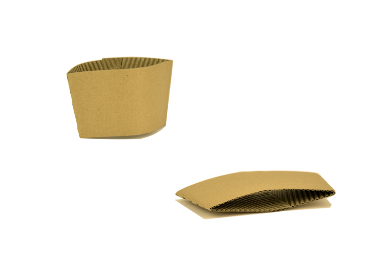 Small hot cup sleeve (fits 8oz cup) - kraft - Vegware