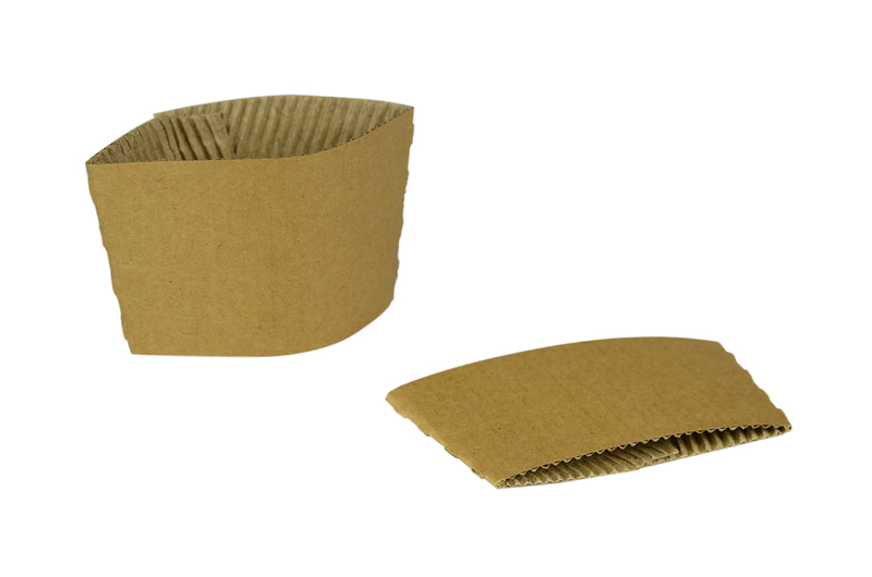 Large hot cup sleeve (fits 10-20oz cups) - kraft - Vegware