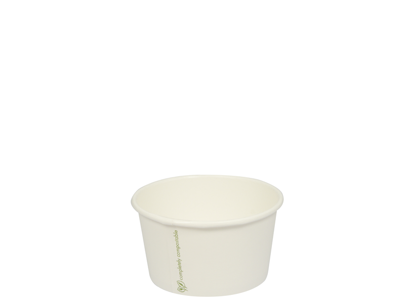 8oz (250ml) paper bowl - white - Vegware