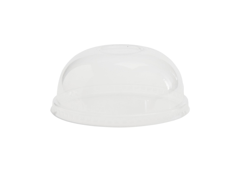 115mm dome PLA cold lid (fits 12-32oz bowls) - clear - Vegware