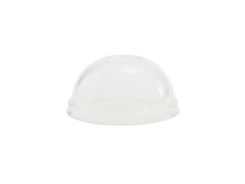 90mm dome PLA cold lid (fits 6-8oz bowls) - clear - Vegware
