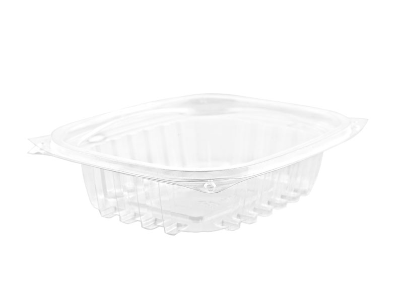 8oz (250ml) PLA rectangular container - clear - Vegware