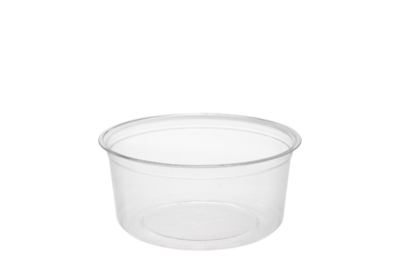 12oz (375ml) PLA round container - clear - Vegware