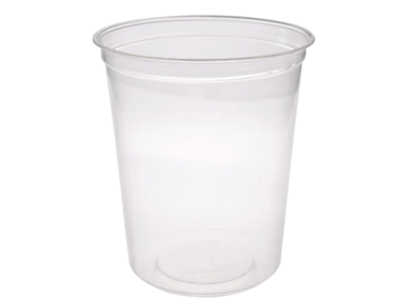 32oz (1000ml) PLA round container - clear - Vegware