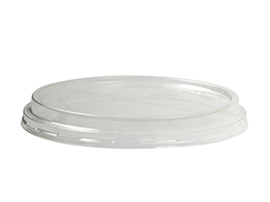 PLA round container lid (fits 8-32oz) - clear - Vegware