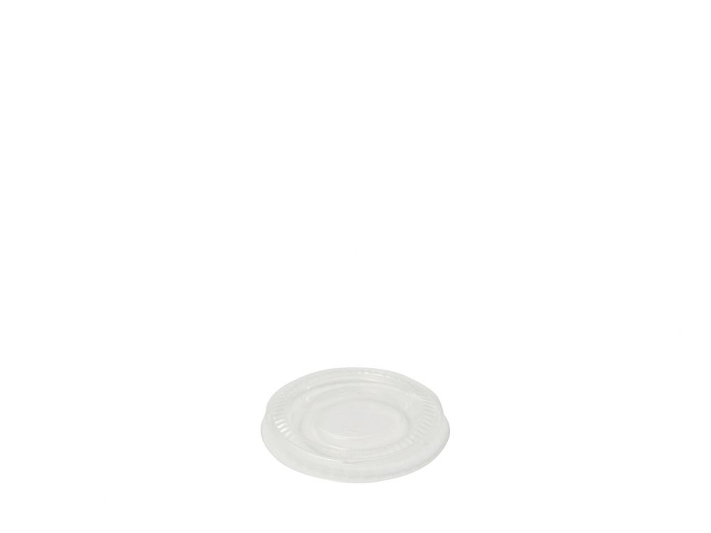 PLA portion pot lid (fits 0.5 & 1oz pot) - clear - Vegware